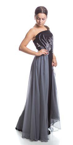 Etiquette Boutique black and grey silk dress