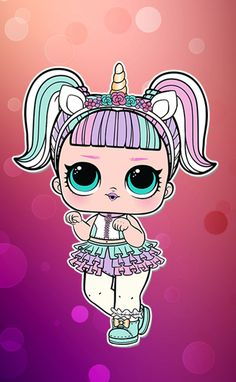 Lol Coloring Pages Unicorn Awesome Unicorn Lol Lil Outrageous Littles Wiki Wallpaper Lol, Iphone Wallpaper Quotes Love, Cute Baby Girl, Cute Babies, Artsy Background, Paper Dolls Printable, Doll Party, Lol Dolls, Art Party
