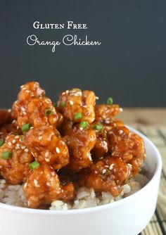 Amazing recipe for gf orange chicken - not even Panda Express can beat this homemade orange chicken. SO good.