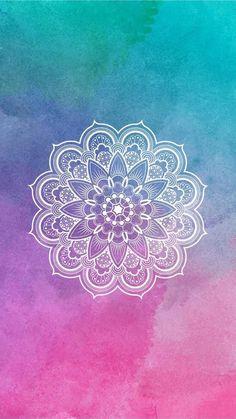 Mandala Design, Mandala Art, Small Mandala Tattoo, Tattoos Mandala, Small Flower Tattoos, Mandalas Drawing, Tattoo Small, Mandala Wallpaper, Colourful Wallpaper Iphone