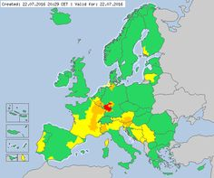 Valid for 22.07.2016 from 20:29 CET Meteoalarm - severe weather warnings for Europe - Mainpage