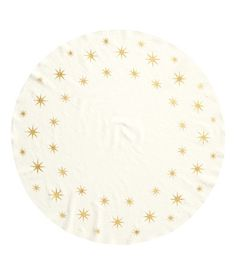Cream Christmas Tree Placemat with Gold Stars | H&M US