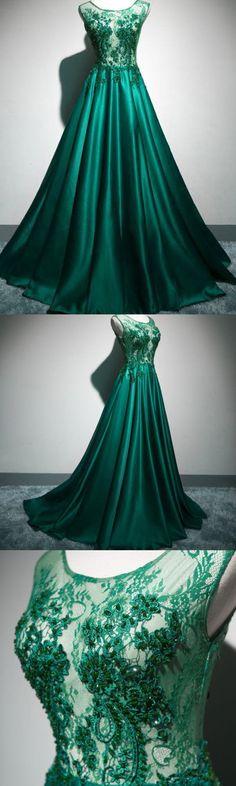 Green Beading Appliques Elegant Prom Dress,Long Prom Dresses,Prom Dresses,Evening Dress, Evening Dresses,Prom Gowns, Formal Women Dress P0507 #promdresses #longpromdress #2018promdresses #fashionpromdresses #charmingpromdresses #2018newstyles #fashions #styles #hiprom #tulle #greenprom