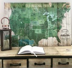 National Parks Poster, National parks, USA Parks, 20X30 Inches, Hiking Map, Gift for hiker, US Heritage Map, American Parks and recreation