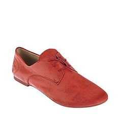 COPE RED LEATHER women's tailored man tailored oxford - Steve Madden
