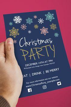Nathen's company, off all printing x Invitation Design, Invite, Christmas Party Invitation Template, Invitations Online, Xmas Party, Free Prints, Design Templates, Sticker Design, Free Design