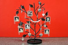 DIY Family Jewelry Tree. I love this idea... and I think that Mom might like one of these with all of the grandkids.