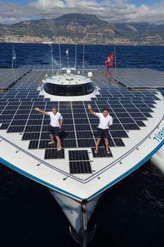 Solar-powered yacht. | #TreatYoSelf #ParksandRec