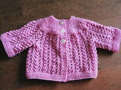 Ravelry: Superwash DK project gallery perfectly pretty in pink matinee baby cardigan. Such a great shade!