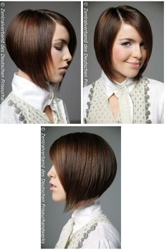 This is called and A-line.  It is perfect for people with round faces who want to have the feeling of a short hair cut.  It is my current do.