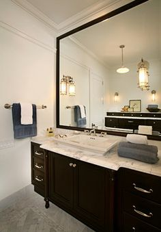 Sink and mirror frame