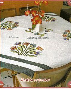 Artesanato e Cia : Toalha de mesa em patchwork e quilt - Passo a pass...
