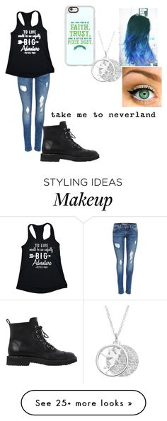 """""""Neverland ♡"""" by austeralia on Polyvore featuring Line Liam, Casetify, Disney and Giuseppe Zanotti"""