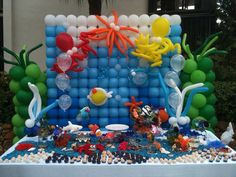 Under the sea Balloon decor from www.allaboutentertainment.com