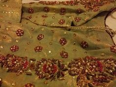 SuperSummer's Distractions: Farah Talib Aziz - My Review Zardosi Embroidery, Embroidery Leaf, Hand Work Embroidery, Embroidery Fashion, Embroidery Patches, Embroidery Designs, Pakistani Wedding Outfits, Pakistani Dresses, Function Dresses