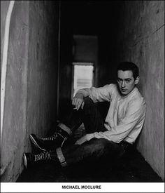 Portrait of San Francisco poet Michael McClure, taken by Harry Redl in 1958.