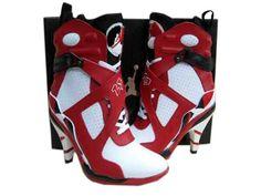 cfcfe85ac12e Air Jordan High Heels 8 For Women Red White Blac Bota Nike