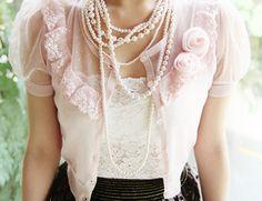 Pink Roses & Pearls