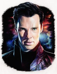 "Khan,""Star Trek"" / A3, Colored pencils (by Natali Hall)"