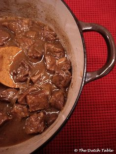 The Dutch Table: Zuurvlees (Dutch Sour Beef Stew)