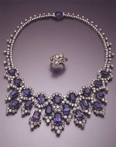 Jewelry belonging to Egyptian Princess Soraya Esfandiary-Bakhtiari, former wife of the Shah of Iran.