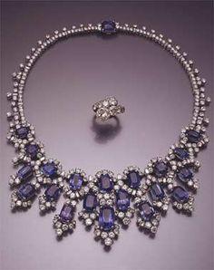 Jewelry belonging to Egyptian Princess Soraya Esfandiary-Bakhtiari, former wife of the Shah of Iran.