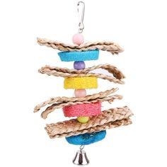 Parrot Toys Pet Bird Bites Climb Chew Toys Parakeet Budgie Products With Hanging Swing Bell Pet Toy Supplies Bird Supplies Diy Chinchilla Toys, Cat Toys, Cockatiel, Budgies, Toy Castle, Parrot Toys, Parrot Pet, Bird Toys, Cute Birds