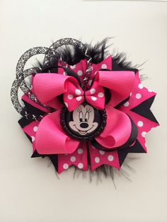 Minnie Mouse Inspired Hair Bow. Disney hair by TheJMarieBoutique, $9.99