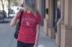 Gunshow Gameday tee available in women's sizes