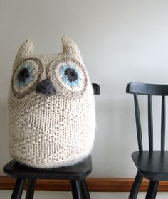 Big Snowy Owl by thepurlbee #Plushie #Owl #Knitting