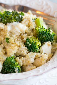 Creamy Broccoli and Chicken Quinoa Casserole | Cooking Classy
