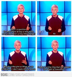 Ellen speaks the truth.