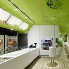 white fast food restaurant interior design - Google Search