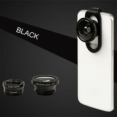 AmyTalk 4 in 1 iPhone Lens Camera Phone Lens Kit Clip on Fish Eye Lens, Super Wide Angle Camera Lens Clip On Kit for iPhone Samsung and other Smart Phones Tablets Black No Dark Circle by Lens (Black). Fish Eye Lens: Approximately 180 degree field-of-view. With it, your phone lens will capture rounded images instead of square ones, so you can enjoy photography and find the instant beauty of the world. Macro Lens: incredible focal distance of 12-15mm for some amazing 10X macro shots to see…