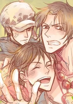 Trafalgar Law, Portgas D. Ace, Monkey D. Luffy