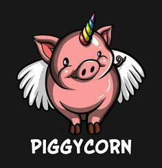 BUY NOW the latest addition to Moon Ape shop: Piggycorn - Pig Unicorn - Pig Tee - Cute Pig Shirt - Pigicorn - Pig Top - Funny Pig Shirts - Cute Pig - Pig Clothes - Pig Gift - Flying Pig Unicorn Pig, Funny Unicorn, Baby Animals, Cute Animals, Unicorn Poster, Pig Drawing, Funny Pigs, Unicorns And Mermaids, Mini Pigs