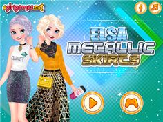 ELSA METALLIC SKIRTS  http://playfrozengames.com/frozen-games/elsa-metallic-skirts