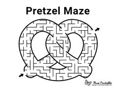 Free Pretzel Template from PrintableTreats.com