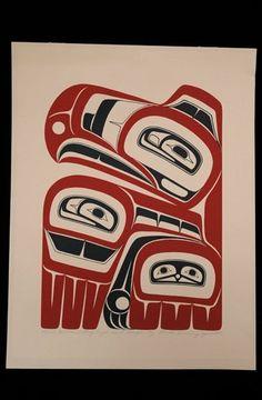 "Freida Diesing Serigraph ""Haida Eagle Crest"" 1977 85/ : Lot 168"