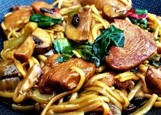 Yummy Pasta Recipes, Good Healthy Recipes, Big Meals, No Cook Meals, I Love Food, Good Food, Healthy Slow Cooker, Tapas, Asian Cooking