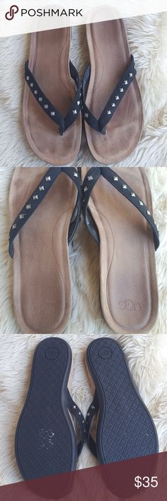 "UGG ""Sadie"" Studded Flip flops Black UGG Australia ""Sadie"" Studded flip flops • condition: used. Sole shows signs of wear. Minor scuffs on outer sole. • heel: 1 inch • please view all pictures• UGG Shoes Sandals"