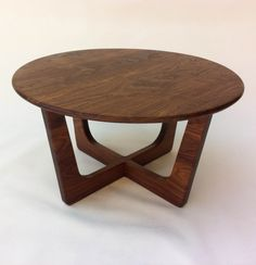 """Solid Walnut Round Mid Century Modern Coffee Cocktail Table - Adrian Pearsall Inspired 30"""" Atomic Era Design in Solid Walnut by studio1212furniture on Etsy https://www.etsy.com/listing/248528597/solid-walnut-round-mid-century-modern"""