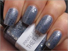 Nerd Lacquer Pinin' For The Fjords over OPI I Don't Give A Rotterdam!