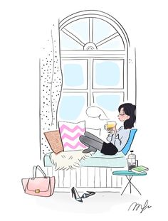 Enjoy the little things in life. and hoe BLESSED I really am! Relaxing Art, Buch Design, Illustration Girl, Illustrations, Doodle Art, Cute Drawings, Art Girl, Watercolor Art, Watercolor Illustration