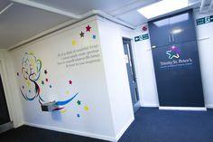 Trinity St. Peter's Primary School - Interior Refurbishment. Brand design, interior design, interior graphics & brand implementation