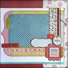 Seasons Greetings - Christmas Layout This layout is perfect for a 5x7, 4x6, or 2 - 3x5 photos of your family Christmas memories: opening presents, sitting under the tree, family parties, etc. DarinzDezinz Etsy shop by Tamara Jensen