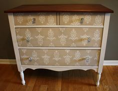 Roots and Wings Furniture Blog: No. 74 Petite Stenciled Dresser