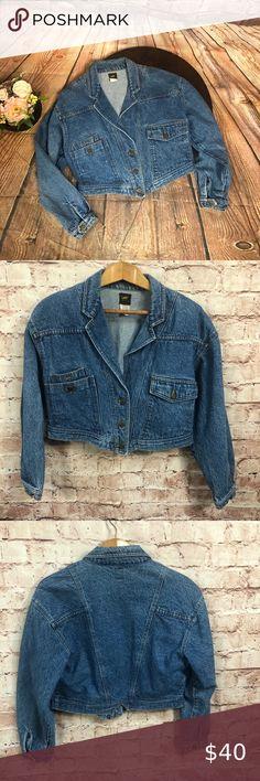Gee Jeanswear Jacket Denim Women Vintage Jeans S 90s 80s Denim jacket vintage jeans used 90s 90S cropped Style zip Short Jacket John F