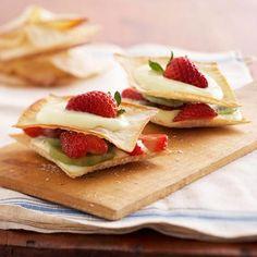 Yummy Quick and Easy Dessert Recipes — Wonton Dessert Stacks Recipe