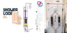 ShowerLoop est un concept de douche écologique dont le principe est de recycler l'eau utilisée pour se doucher en la filtrant pour la réutiliser à l'infini.